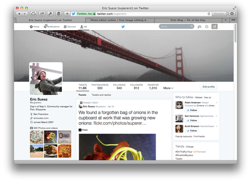 twitter profile example banner