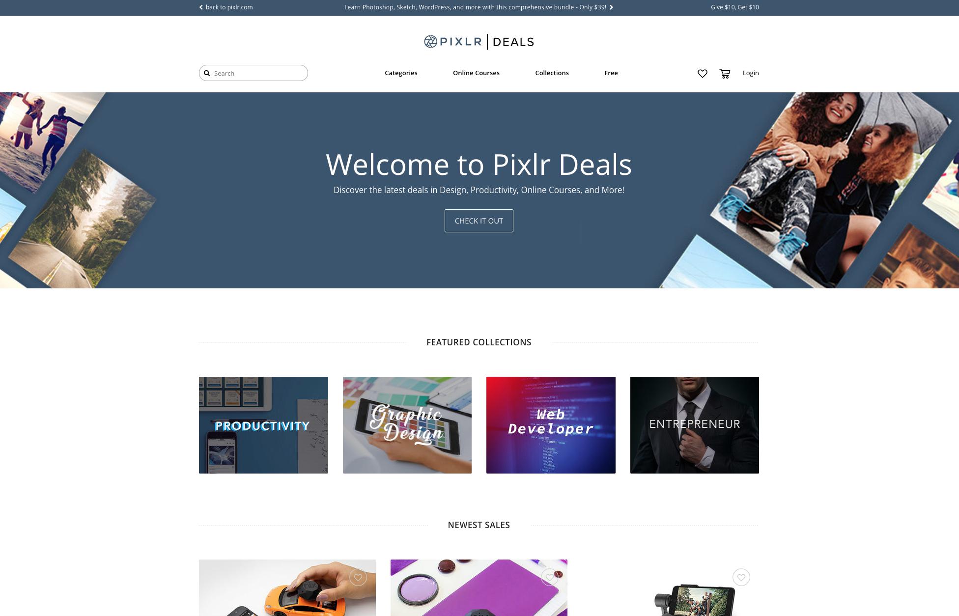 Introducing Pixlr Deals