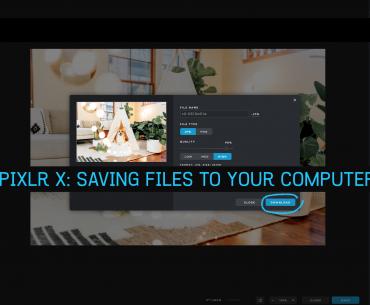 Pixlr X: Saving Files To Your Computer