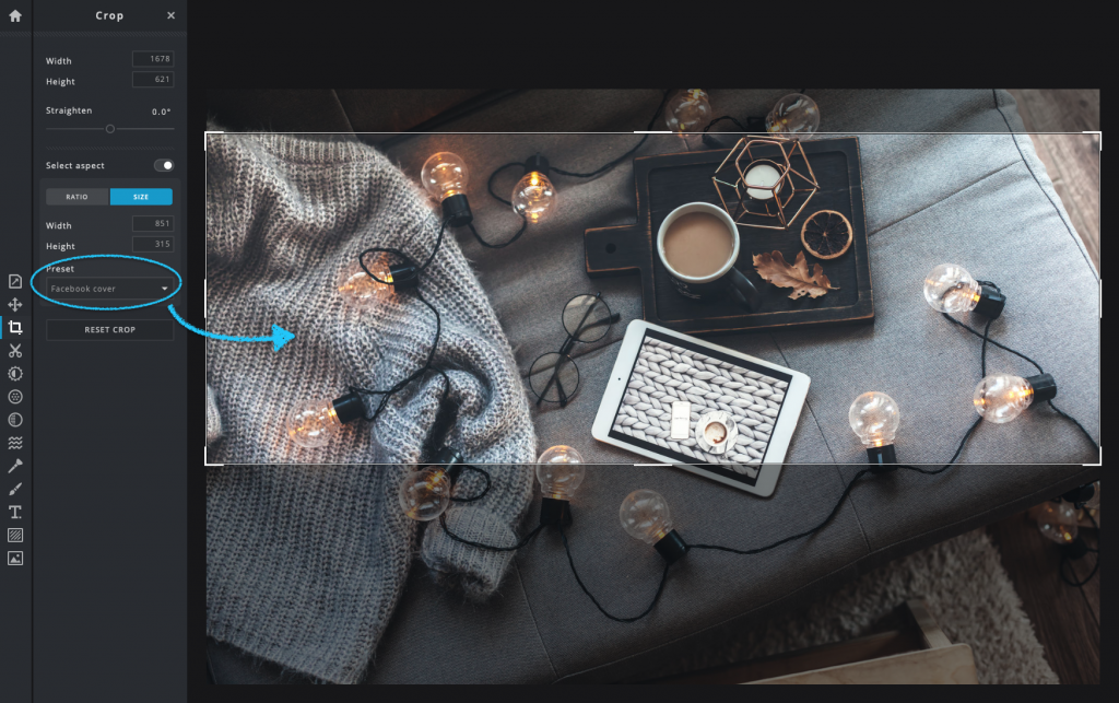 Facebook Cover Photo in The Ultimate Guide To Resizing Social Media Images With Pixlr X Presets - PIXLR Blog