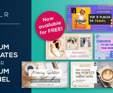 20 FREE Pixlr Premium YouTube Thumbnail Templates for Content Creators